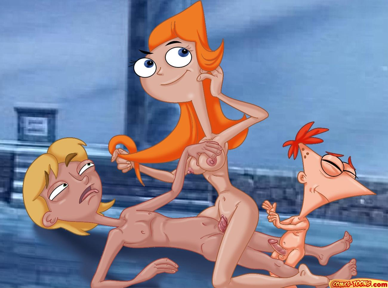 feet phineas and candace ferb Regular show gay porn comic