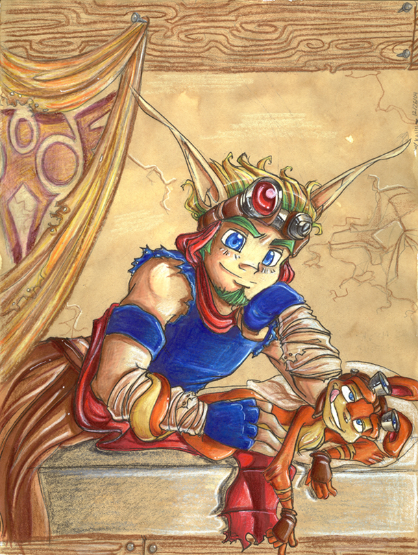 and maia daxter jak and gol Angel from king of fighters