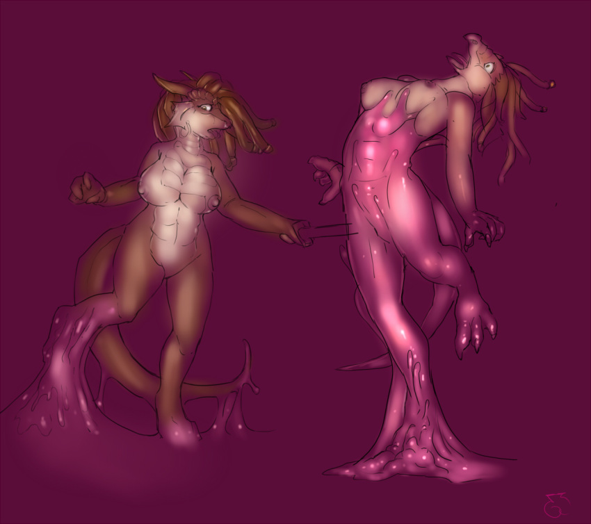 naked a girl dragon and Conker's bad fur day alien